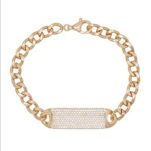 SWAROVSKI ELEMENTS 14k Rose Gold Link Bracelet